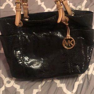 Michael Kors tote bag in black snakeskin